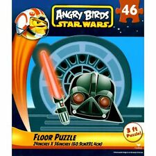 """Angry Birds Star Wars 24"""" x 36"""" 46 Piece Floor Puzzle-Brand New in Box!"""
