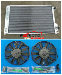Aluminum radiator+fan for Audi Quattro V8 1990 1991 1992 1993 1994