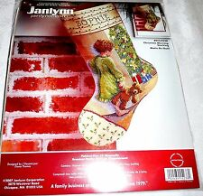 Janlynn Counted Cross Stitch Kit CHRISTMAS MORNING STOCKING 18""