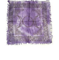 Altar Cloth 18x18 inch: Triple Moon, Purple | Pagan | Witch | Goth