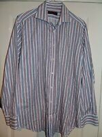 ETRO ~ITALY SMART ELEGANT DESIGNER STRIPED SHIRT UK 17.5 EU 44