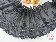 Delicate 1 yard lace trim Elastic/Spandex Soft Flower Floral lace trim Sewing 22