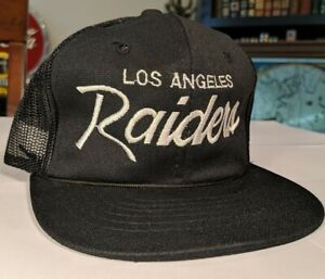 VTG 90s Sports Specialties LOS ANGELES RAIDERS Script Snapback Hat THE YOUTH