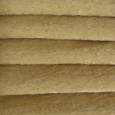 "1/4 yd Vis1 Honey Tan Intercal 6mm ""Flat"" Med. Dense German Viscose Fur Fabric"