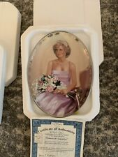 """Bradford Exchange """"Princess of Compassion"""" Diana Collector's Plate - 1998"""