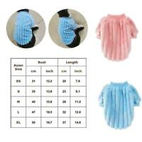 Pet Dog Jumper Sweater Winter Warm Flannel Cat Clothes Puppy Small R5M5