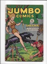 "JUMBO COMICS #142 [1950 VG+] ""MAN-EATERS OF N' GAMBA"""