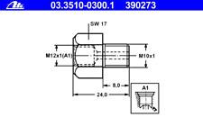 Adapter Bremsleitung - ATE 03.3510-0300.1