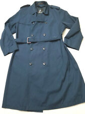 Misty Harbor Coat Jacket Womens 42 Long Blue Water Repellent Trench Rain