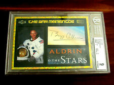 BUZZ ALDRIN APOLLO 11 ASTRONAUT SIGNED AUTO THE BAR MEMENTOS GRADED 9 MINT JSA