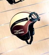 CASCO VINTAGE IN PELLE PER  MOTO GUZZI BMW HARLEY DAVIDSON VESPA TAGLIA S,M,L,XL