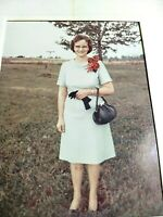 VINTAGE COLORED PHOTOGRAPH  MOTHER OF THE GROOM WEDDING PICTURE