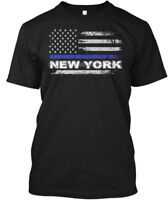 Thin Blue Line New York - Hanes Tagless Tee T-Shirt