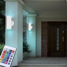 2er Set RGB LED Up Down Wand Lampen dimmbar Garten Farbwechsel Außen Leuchten