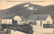 CPA 88 SAINT AME TRAMWAY POUR GERARDMER ET LES CARRIERES DE CORBELLIERES (TRAIN