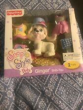 ~Fisher Price~ Snap n' Style Doll Pets GINGER Shih Tzu Dog