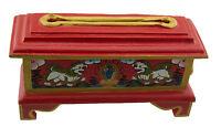 Brucia Porta Incenso Tibetano 23cm Incensiere Legno Leone Dei Frozen Nepal 927