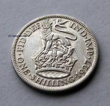 1927 Re Giorgio V argento inglese britannico SHILLING 50% di contenuto d'argento 1/- Bob