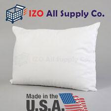 "100% White Cotton Travel Pillow / Toddler Pillow - Soft Hypoallergenic - 13""x18"""