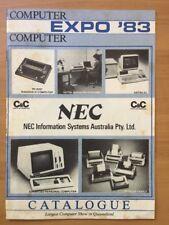 Vintage NEC Computer Expo 1983 Catalogue