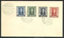 ICELAND 1952, FDC, Bjornsson set (Scott 274-7), VF Facit $42.00