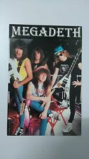 Megadeth group vintage music postcard POST CARD 2