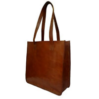 Womens Shoulder Tote Bag Genuine Leather Travel Handbag Large Brown Ladies Purse