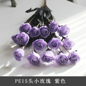 Artificial Flowers for Wedding Party Home Decorativemini Rose Foam Branch Beauty