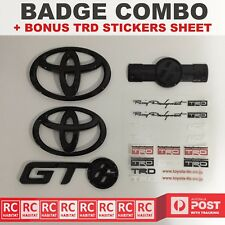 TOYOTA GLOSS BLACK BADGES COMBO FOR TOYOTA GT 86 GT86 TRD SPORTS 2013-2016