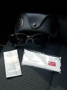 Ray Ban RB 3478 004/58 Gunmetal Gray Blue Polarized Sunglasses 60-17-130 3P