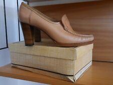 GABRIELLA Loafer 39 Pumps 70er nude Leder TRUE VINTAGE high heels MOD 70s