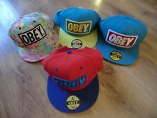 OBEY BASEBALL CAPS 4 OBEY USED BUT VGC