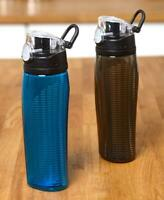 2 Pack Thermos 24 oz Hydration Water Bottle Push Button Lid Wide Mouth Good Grip