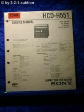 Sony Service Manual HCD H551 Component System (#2588)