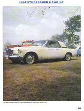 1964 Studebaker Hawk GT Article - Must See !!