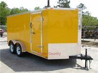 NEW 7x14 7 x 14  V-Nose Enclosed Cargo Trailer w/Ramp