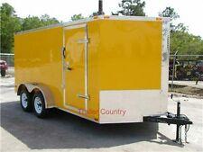 NEW 7x14 7 x 14  V-Nose Enclosed Cargo Trailer w/Ramp