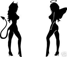 Angel and Devil Girls Vinyl Sticker/ Decal