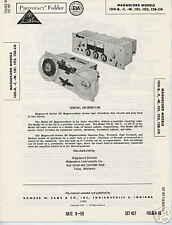 Magnecord 100-B, -T, -W, 101 Tape Recorders Photofact