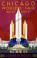 Wall Art - 1933 Chicago World's Fair Poster  11x17 inches