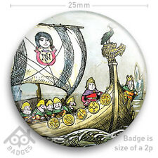 "NOGGIN THE NOG -  RETRO TV Badge BBC Children's TV -  25mm 1"" Badge"