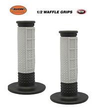 """Avon Grips 1/2 Waffle Motocross Dirtbike Twist Throttle 7/8"""" GREY MX KTM SCOOTER"""