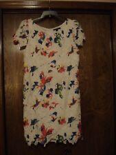 SHARAGANO Floral & Lace Dress, SZ - 16