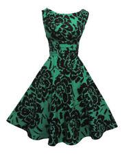 Ropa vintage de mujer de color principal verde