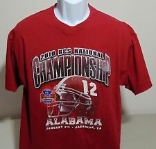 Alabama Crimson Tide 2010 BCS National Championship T-Shirt Mens Large