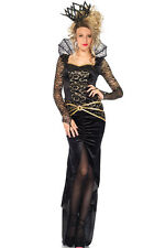 Costume Halloween Queen of Darkness Vestito lungo scuri regina cattiva Maleficent