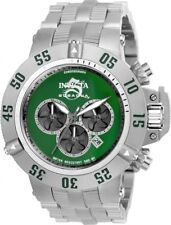 New Mens Invicta 50mm Subaqua Noma Green Dial Chronograph Bracelet Watch