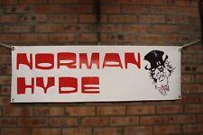 norman hyde triumph t100 t120 t140 t180 work shop banner  pvc banner