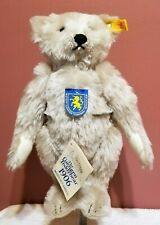 """Steiff Grey Giengen Teddy Bear, 0167/32, Mohair, 12"""" Made 1985-1992, USA Excl,TA"""