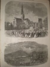 Capping the spire Chichester Cathedral & Feat of Lanterns Llandudno 1866 prints